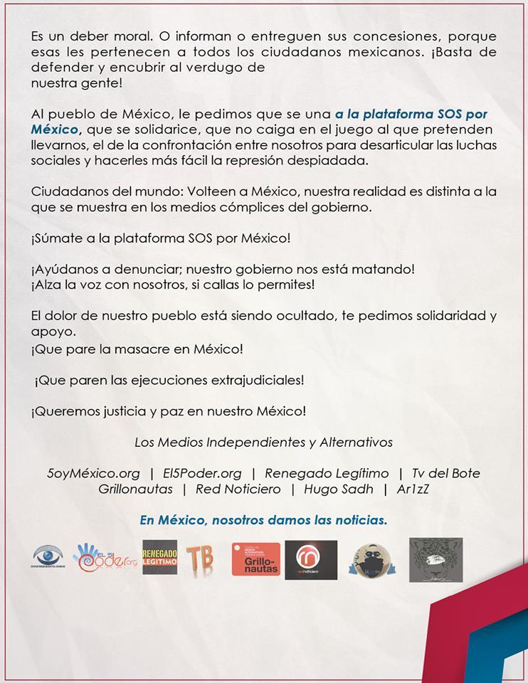 #SOSporMéxico. (COMPARTIR).