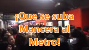 Así se vive el día a día en el Metro de la Cd. de México. ¡Que se suba Mancera al Metro!