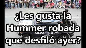 Amenazas de bomba y un Hummer robado que usa la policía, fueron parte del festejo en Chihuahua.
