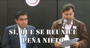 Ex diputados entregan al Senado petición de Consulta Popular para revocar el mandato de Peña Nieto.