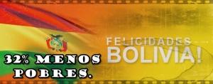De 2000 a 2012, Bolivia redujo la pobreza en más del 30%.