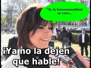 La esposa del feudal de Durango, dice que la homosexualidad debe tratarse clinicamente.