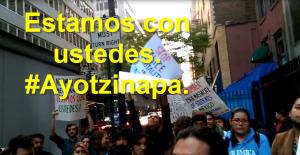 En Nueva York, #TodosSomosAyotzinapa.