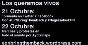 Desde Cancún: Nos duelen nuestros desaparecidos. #TodosSomosAyotzinapa.