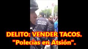 Detenido por vender tacos.