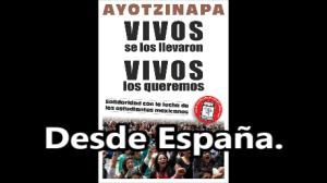 Apoyo desde la Huelga Estudiantil en España, a los compas de #Ayotzinapa. #EpnBringThemBack.