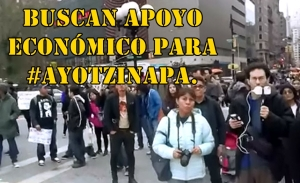 En NYC llaman a apoyar económicamente a los normalistas de #Ayotzinapa.