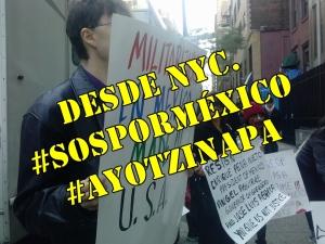 #Ayotzinapa es un crimen de Estado, dicen desde Nueva York. #SOSporMéxico.