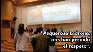 Increpan a la Ministro de la SCJN, Olga Sánchez en la BUAP, por impedir consulta sobre #Pemex.