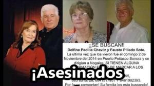 Asesinan a dos abuelitos en San Luis Río Colorado, Sonora. #SOSporMéxico.