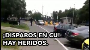 Disparan a estudiantes en Ciudad Universitaria, UNAM. #ALERTA. #YaMeCansé.