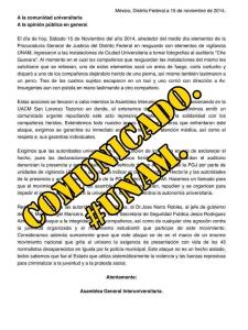 Comunicado de la Asamblea General Interuniversitaria sobre el ataque a la UNAM. #FueraNarroDeLaUNAM.