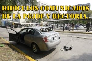 UNAM. Según la PGJDF: estudiante iba volando cuando el policía lo hirió al disparar al aire.