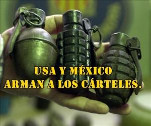 Entran desde USA piezas para fabricar granadas que terminan en manos de cárteles.
