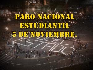 Llamado de la Asamblea Interuniversitaria a Paro Nacional Estudiantil el 5 de Noviembre.