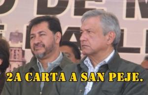 A ver si ahora sí contesta López Obrador, aunque no creo. 2a Carta de Fernández Noroña.