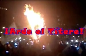 Arde Peña Nieto en el Zócalo. #YaMeCansé. #AcciónGlobalAyotzinpa. #SOSporMéxico.