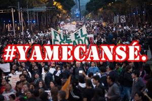 Crónica del 20 de Noviembre. #AcciónGlobalAyotzinapa.