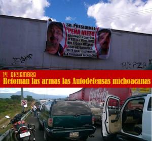 Autodefensas michoacanas anuncian su resurgimiento, no permitirán sigan operando fuerzas rurales #Autodefensas