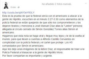 En Tlatlaya y Ayotzinapa, #FueElEstado: General Gallardo. #YaMeCansé8.