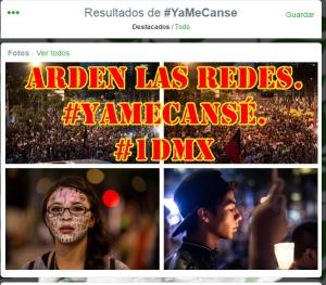#1DMX. Las redes sociales exigen #RenunciaEPN. #YaMeCansé.