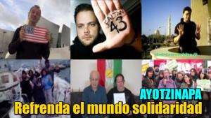 Refrendan en el mundo solidaridad con Ayotzinapa