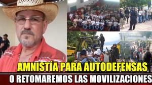 Iniciaremos movilizaciones si no liberan a las 383 Autodefensas : Hipólito Mora