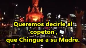 Toman instalaciones de #NarcoTelevisa y difunden mensaje en apoyo a #Ayotzinapa. #YaMeCansé.