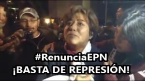 Estas son las marranadas de Mancera y Peña Nieto: Golpeada por la policía. #1DMX. #YaMeCansé.