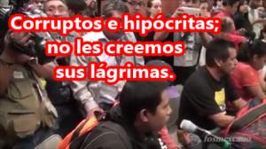 Son una bola de hipócritas y corruptos: Alumno de Ayotzinapa a los cínicos Senadores. #YaMeCansé2.