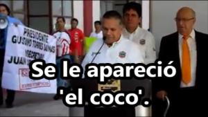 Alcalde de Tampico hacía homenaje a Mauricio Garcés cuando se le apareció 'el coco'. #YaMeCansé8.
