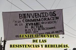 Delegación de Las Abejas de Acteal en el Festival Mundial de las Resistencias y Rebeldías.