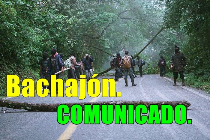 Comunicado San Sebastián Bachajón. 16 de Enero.