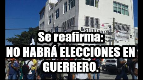 Que lo entiendan, NO habrá elecciones en Guerrero, hasta que regresen a los 43: CETEG.