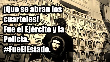 Amenazan con que el Ejército nos dispare; que se abran los cuarteles: Vocero de Ayotzinapa.