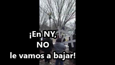 En NY no le vamos a bajar #FueElEstado. Protesta por la visita de EPN.