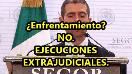 Versión del Gobierno: Enfrentamiento. Realidad: Ejecuciones Extrajudiciales. #Apatzingán.