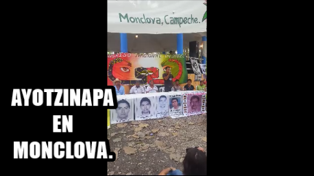 La desaparición forzada es una herramienta de contrainsurgencia. Omar García de Ayotzinapa.