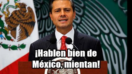 Peña Nieto pide a embajadores y cónsules hablar bien de México. Aunque mientan, claro.