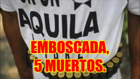 Emboscada en Huahua en Aquila, Michoacán deja 5 comunitarios muertos.