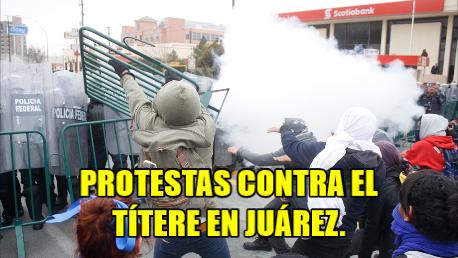 Protestan en Juárez contra Peña. La policía reprime la manifestación, como siempre.