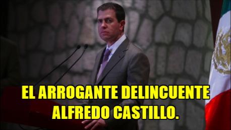 Pide el PAN la renuncia del arrogante delincuente Alfredo Castillo.