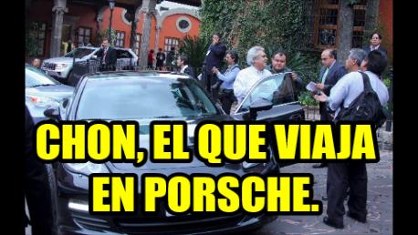 Chon Orihuela, es el otro delincuente que va por Michoacán. Es del PRI y viaja en Porsche.
