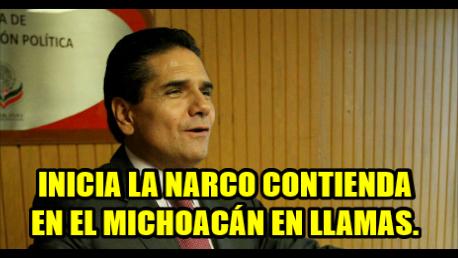 Ya hay dos precandidatos para la narcocontienda en el Michoacán en llamas.