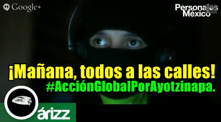 #AcciónGlobalPorAyotzinapa. Apatzingán. En ambos, #FueElEstado.