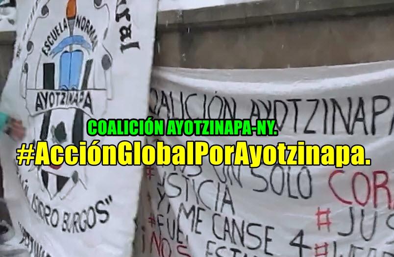 Esta es la dignidad y la rabia en NY. Coalición Ayotzinapa-NY.