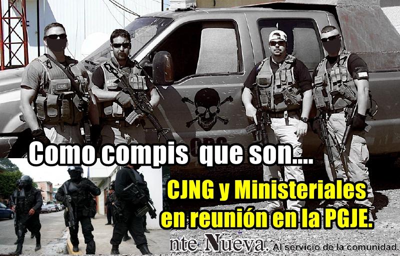 Reunión clandestina de compis: CJNG y Ministeriales de Veracruz. Les cayó la SEMAR.