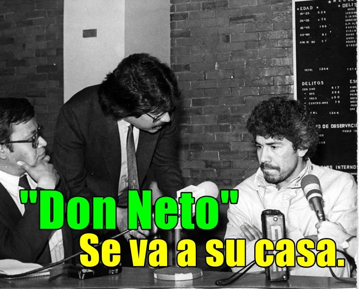 Ernesto Fonseca 'Don Neto', cumplirá su sentencia en casita. Que porque ya está viejito.