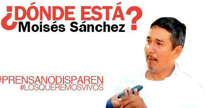 Moisés Sánchez no es Charlie Hebdo. Por eso al gobierno no le interesa.