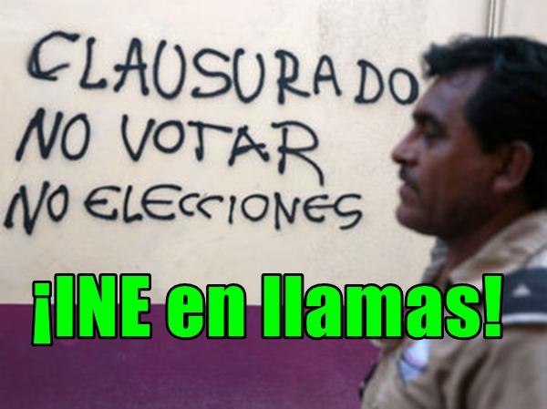 No habrá elecciones en Guerrero. Queman instalaciones del INE en Tixtla.